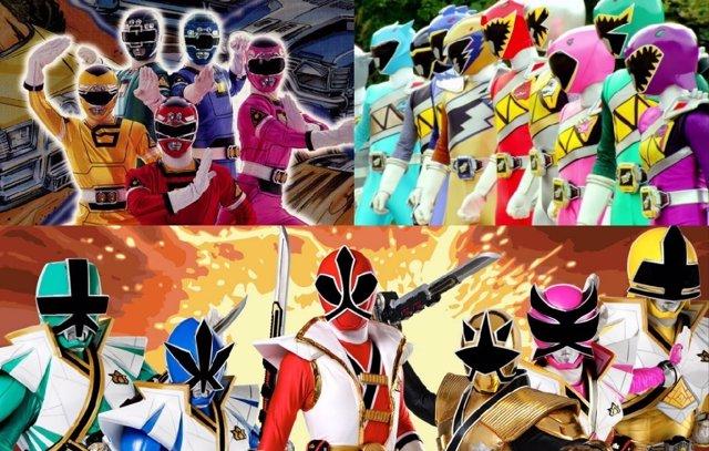 Diferentes versiones de los Power Rangers