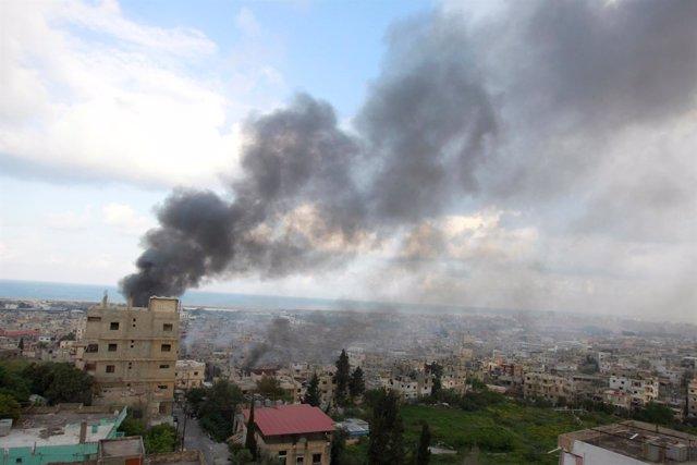 Enfrentamientos en el campamento de refugiados palestinos de Ain al Hilweh