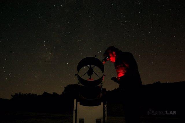 Astrolab observación astronómica yunquera