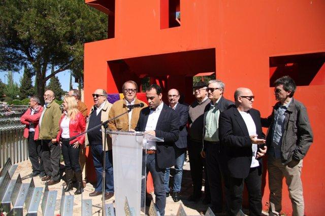 Acto de homenaje a las víctimas del franquismo.