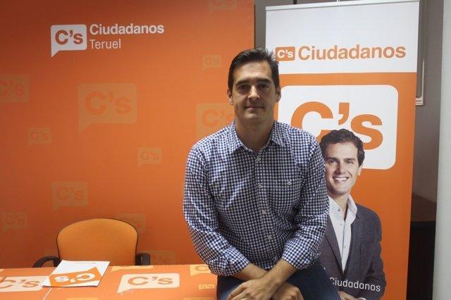 El portavoz de Ciudadanos (Cs) en Teruel, Ramón Fuertes.