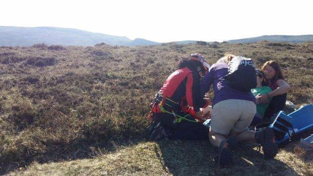 Rescate de una senderista en el monte Colina