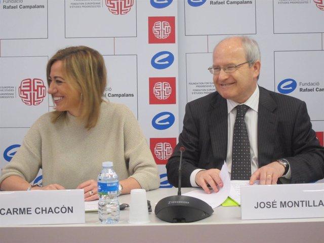 Carme Chacón, José Montilla (PSC)