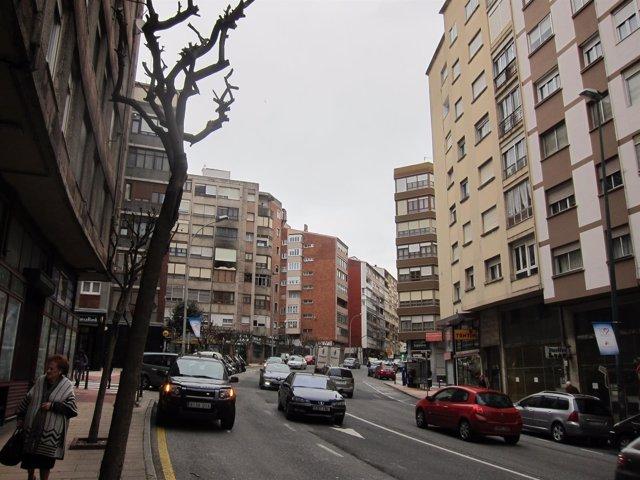 Viviendas, calle en Santander