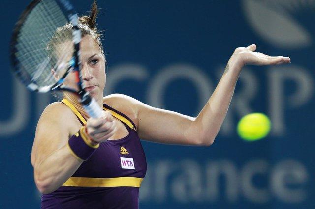 Anastasia Pavlyuchenkova, en el torneo de Brisbane
