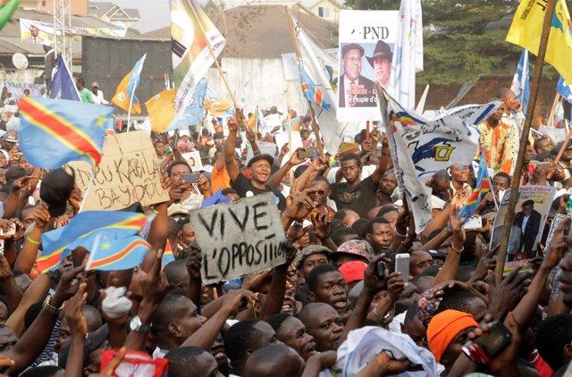 Protesta opositora en Kinshasa