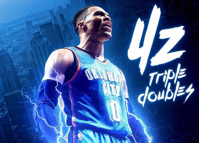 Russell Westbrook bate el récord de 'triples-doble'