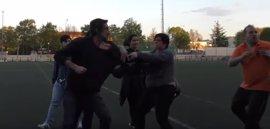 Lamentable pelea entre padres en un partido de fútbol base en Logroño
