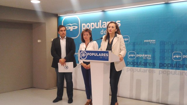 Rueda de diputados del PP de Vigo.