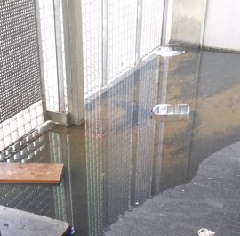 """Denuncian un """"atasco de aguas fecales"""" en un bloque de VPO del Polígono Sur de Sevilla"""