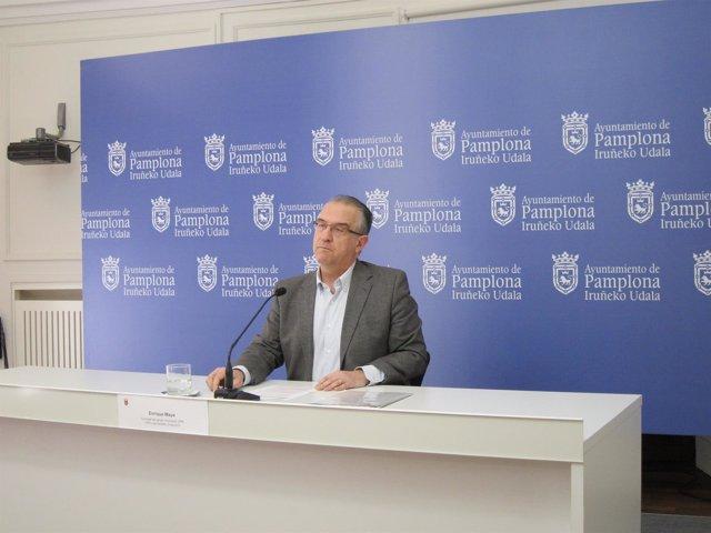 Enrique Maya, portavoz del grupo municipal de UPN en Pamplona