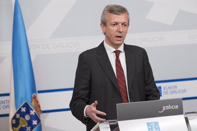 El vicepresidente da Xunta, Alfonso Rueda, comparece en el Consello