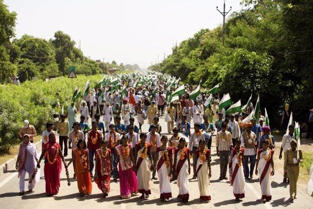 Marcha Jai Jagat por la paz desde la India
