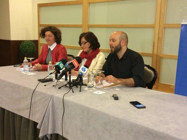 Rueda de prensa de En Marea con Luís Villares.