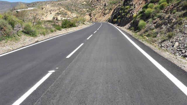 Los trabajos en la carretera entre Ohanes y Abla han mejorado al seguridad.