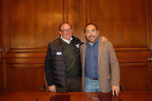 Luis Rey (d) y Francisco Rubio (i)