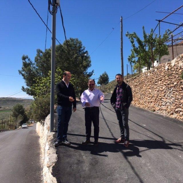 Visita a las obras realizadas en calles de Pozo Alcón