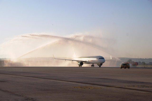 El aeropuerto de Jerez bautiza la nueva ruta con Zúrich