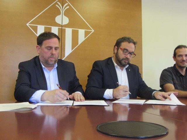 Oriol Junqueras y Juli Fernández