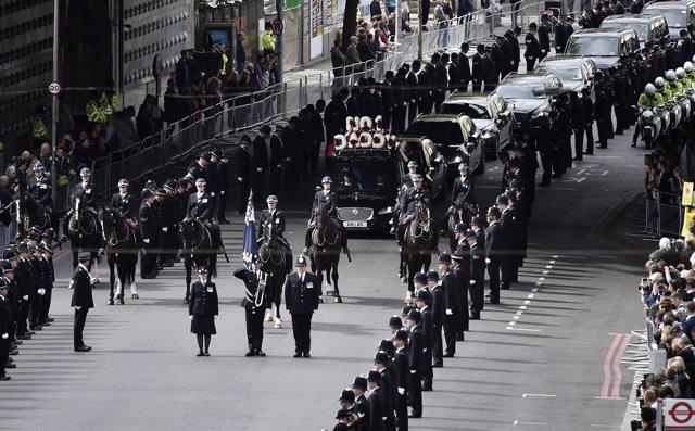 Funeral por el policía asesinado en Westminster