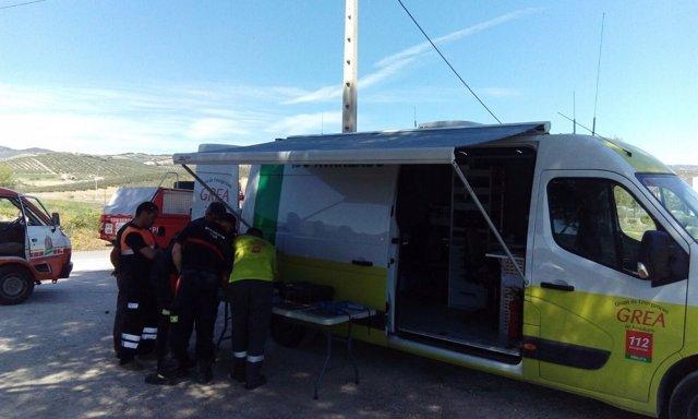 Dispositivo búsqueda de desaparecido en Montefrío (Granada)