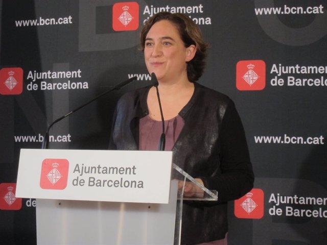 La alcaldesa de Barcelona, Ada Colau