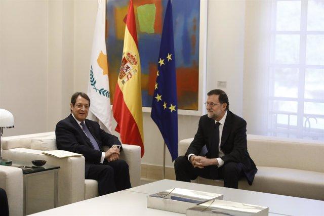 Rajoy recibe en La Moncloa al presidente de Chipre, Nikos Anastasiadis
