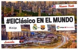 El Clásico también se vivirá en Nueva York y Luanda
