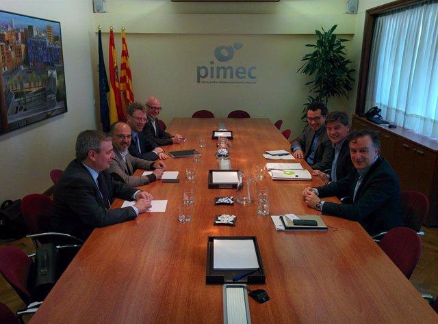 J.Xuclà, C.Campuzano, F.Bel, J.Pagès (PDeCAT) A.Cañete (Pimec)