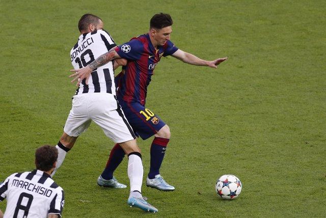 Barcelona Juventus Leo Messi Bonucci Marchisio