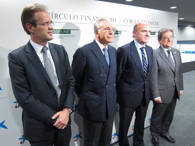 Jordi Gual, Isidre Fainé, Luis De Guindos Y Enric Millo