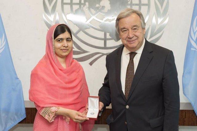 António nombra entrega a  Malala Yousafzai Mensajera de la Paz