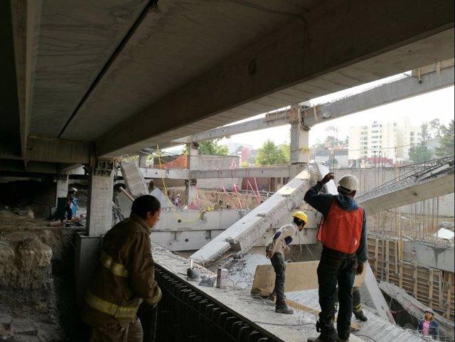 Derrumbe en una obra en el suroeste de Ciudad de México
