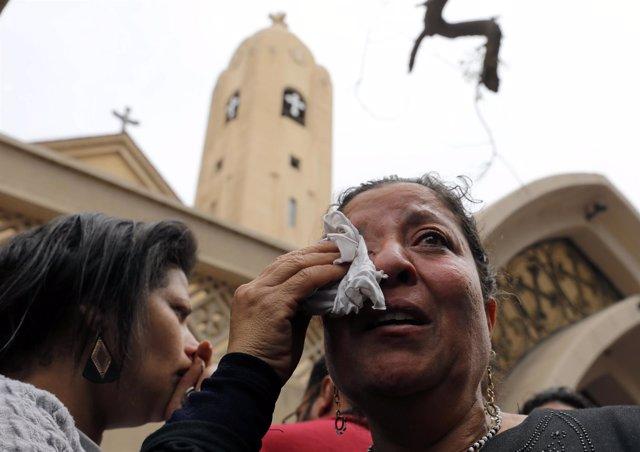Atentados suicidas contra la Iglesia copta de Egipto