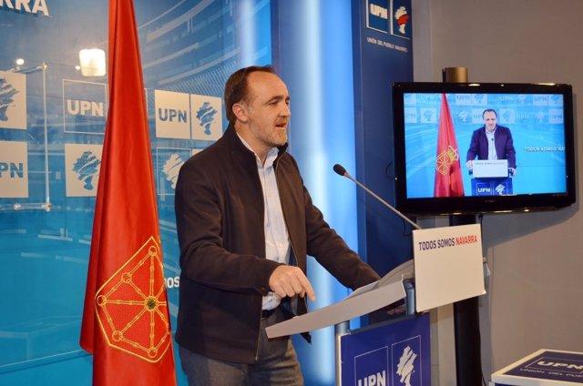 El presidente de UPN, Javier Esparza