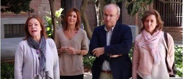 Isabel Rosell, Carmen Castell, Pedro Corral e Isabel Martínez-Cubells