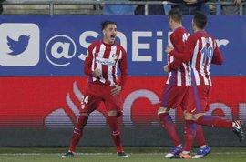 Giménez, único apercibido del Atlético de Madrid para la vuelta ante el Leicester