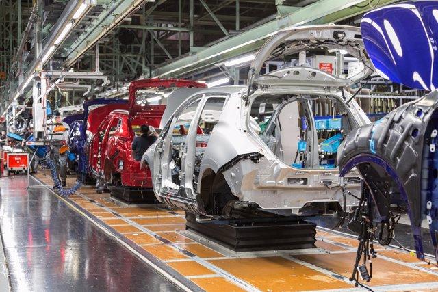 Producción del Nissan Leaf en Sunderland (Reino Unido)