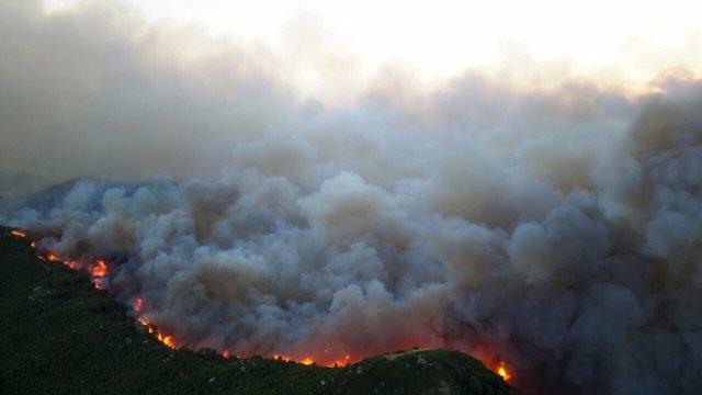 Incendio en las Cinco Villas en 2015.