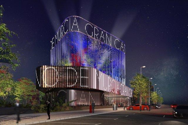 Recreación fachada del Gran Casino de Murcia