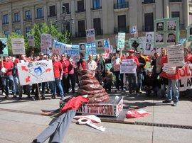 Nueva protesta de policías forales y locales contra la ley y para exigir la dimisión de Beaumont