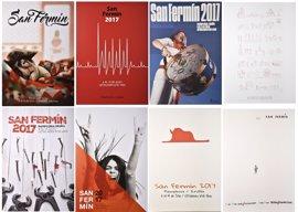 Seleccionados los ocho carteles finalistas para anunciar los Sanfermines 2017