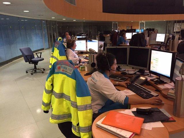 Centralita del Centro regional de Emergencias