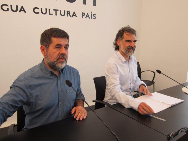 Jordi Sànchez (ANC) Jordi Cuixart (Òmnium)