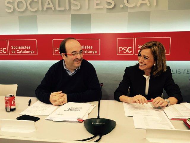 Miquel Iceta, Carme Chacón, PSC