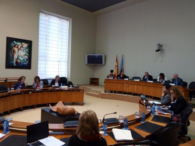 Comisión de Sanidade en el Parlamento de Galicia