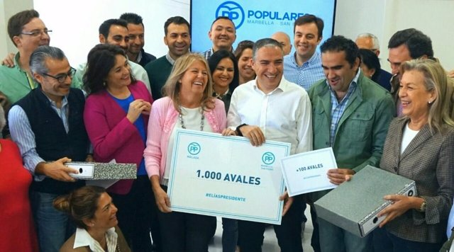 Elías Bendodo ANgeles Muñoz  PP Marbella avales congreso presidencia partido