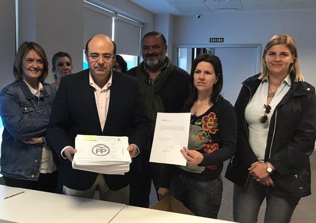 Sebastián Pérez presenta los avales para optar a la reelección