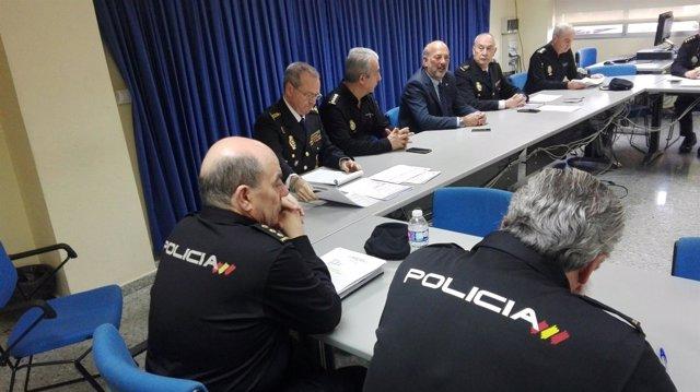 Reunión de coordinación de la Policía Nacional.