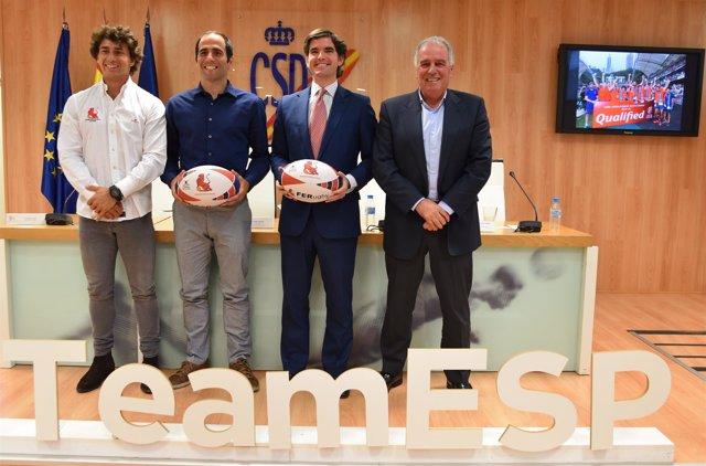 Angel López, Pablo Feijóo, Jaime González Castaño y Alfonso Feijóo